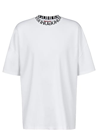 ffa7dbb2b HUGO BOSS Oversized-fit T-shirt with reverse-logo neckline