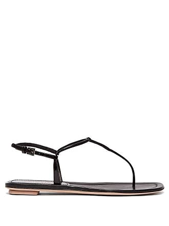 290a2708a Prada Ankle Strap Patent Leather Sandals - Womens - Black