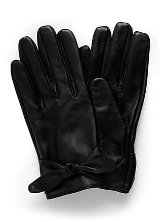 Forever New Tamika Tie Detail Leather Glove - Black. - m l