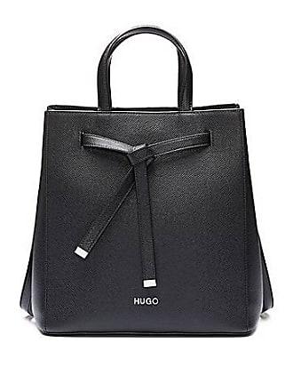 ef8bdd1a6a2 HUGO BOSS Bucket bag in Saffiano leather with drawstring detail