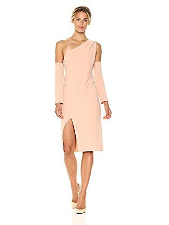 aae522417439 Finders Keepers Womens One Shoulder Oblivion Long Sleeve Midi Dress, Nude,  XS