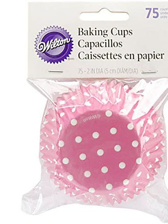 Wilton 415-0158 Bake cups Pink Dots (75 Count)