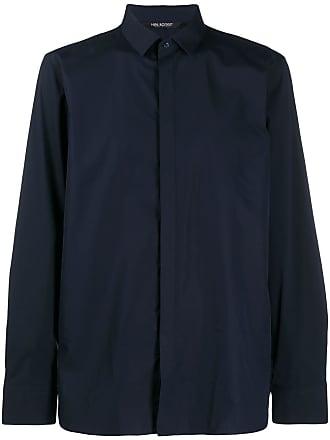 Neil Barrett Camisa com fechamento oculto - Azul