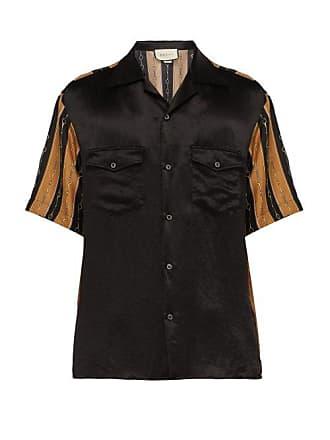 7f3b94dc501 Gucci Chemise en soie à manches courtes et imprimé mors