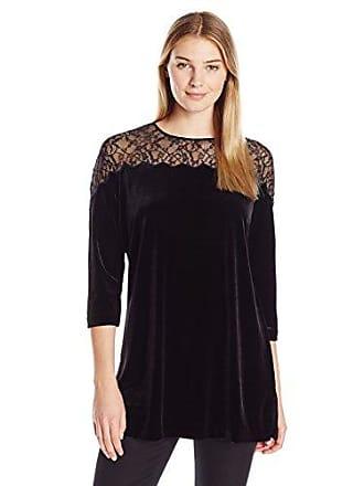 Joan Vass Womens Velvet Tunic, Black, 2