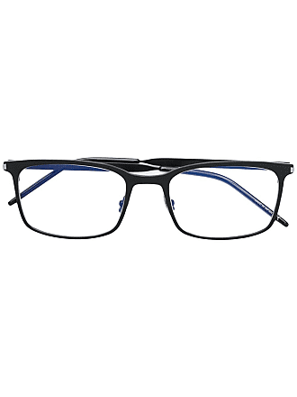 Saint Laurent Eyewear rectangular shaped glasses - Preto