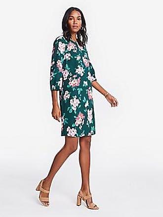 ANN TAYLOR Petite Floral Lantern Sleeve Shift Dress