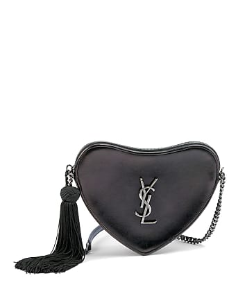 80fcb1d2d9 Saint Laurent Sac Coeur Monogram YSL Heart Tassel Box Clutch Bag
