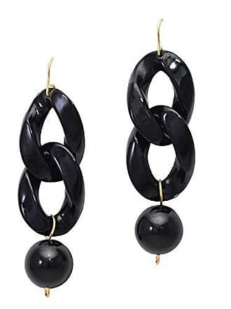 Tinna Jewelry Brinco Dourado Elos Pretos