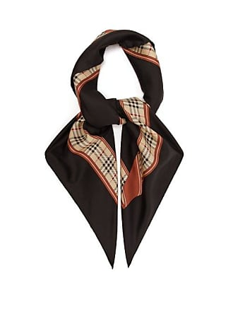 Burberry Archive Print Silk Scarf - Womens - Black