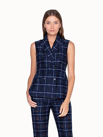 Akris Plaid Gernot Gilet in Cotton Silk