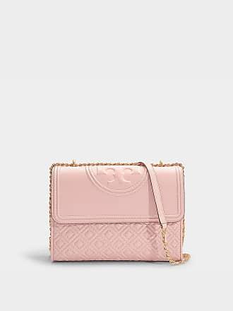 e15d3f9d1d3 Tory Burch Fleming Convertible Shoulder Bag in Shell Pink Calfskin