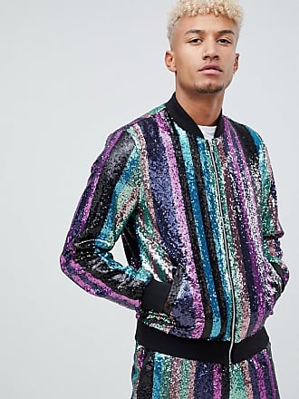 Asos Co-ord - Bomber a righe con paillettes - Multicolore 501b3fc0301