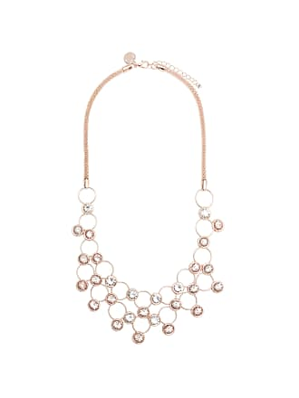 Forever New Khloe Diamante Collar Necklace - Blush/Rose - 00