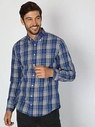 Tommy Hilfiger Camisa con Cuadros Príncipe de Gales<br>Regular Fit<br>Azul y Blanco