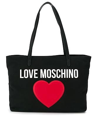 Love Moschino heart logo tote - Black