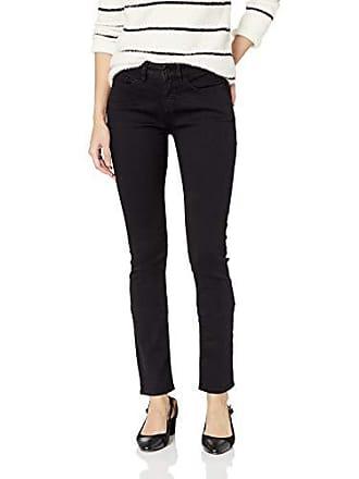 Yummie Tummie Womens Modern Mid Rise Slimming Straight Denim Jeans, Black, 25