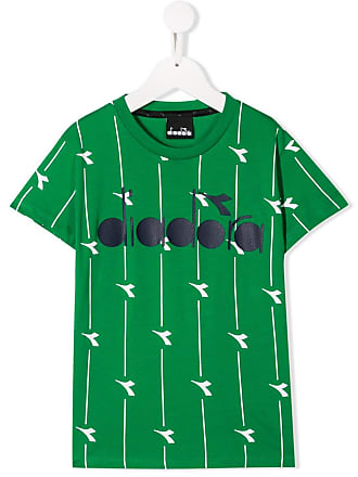 Diadora Camisa com estampa de logo - Verde