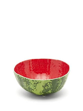 Bordallo Pinheiro Watermelon Earthenware Salad Bowl - Green Multi