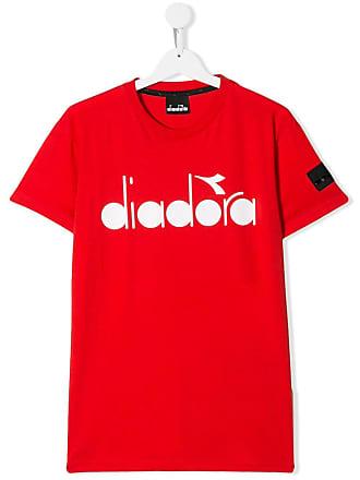 Diadora Camiseta com estampa de logo - Vermelho