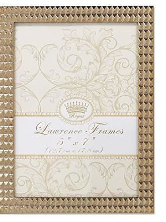Lawrence Frames 5x7 Metal Gold Diamond Pattern Picture Frame