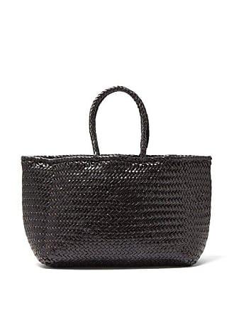 Dragon Diffusion Grace Woven Leather Basket Bag - Womens - Black