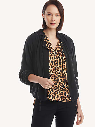 1.State Womens Drawstring Cupro Soft Bomber Jacket In Color: Black Size Large From Sole Society