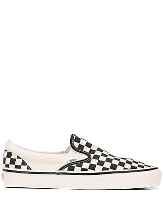 Vans checked slip-on sneakers - White