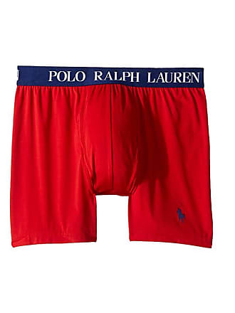 2bad234c971f Polo Ralph Lauren Microfiber Pouch Boxer Brief (RL2000 Red/Fall Royal Pony  Print)