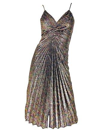 03bb7f8db68 1stdibs Amazing 1970s Metallic Disco Studio 54 Pleated Slinky Colorful  Vintage 70s Dress