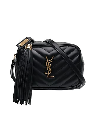 2e6580838e Saint Laurent black quilted logo detail leather belt bag