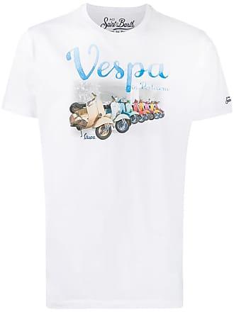 MC2 Saint Barth vespa in Portocervo print T-shirt - White