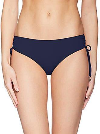 eaa535017b201 Anne Cole Womens Alex Solid Side Tie Adjustable Bikini Swim Bottom, Navy, X-