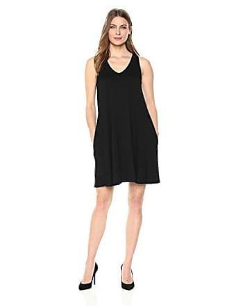 Karen Kane Womens Tessa Tank Dress, Black, Extra Small