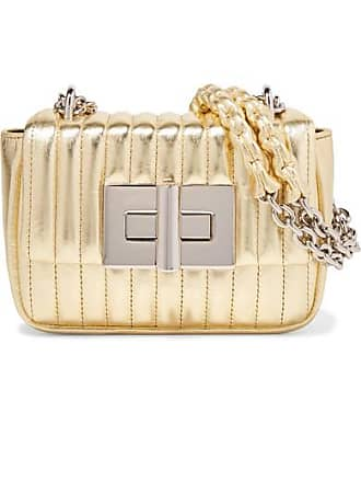 ae77ae5f0a69 Tom Ford Natalia Mini Metallic Quilted Leather Shoulder Bag - Gold