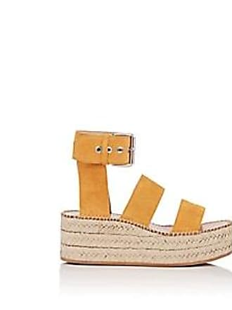ffcd19a1b076 Rag   Bone Womens Tara Suede Wedge Sandals - Yellow Size 11