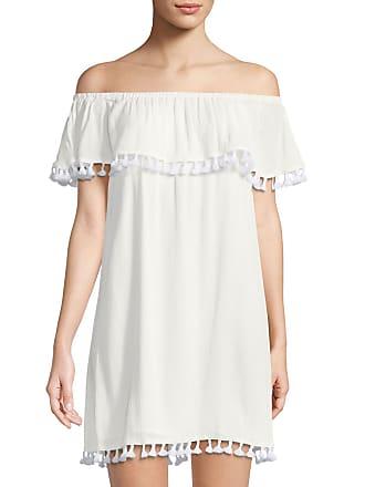 Off-The-Shoulder Tassel-Trim Shift Dress 1.State