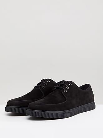 Zapatos de vestir en terciopelo negro con cordones de ASOS DESIGN