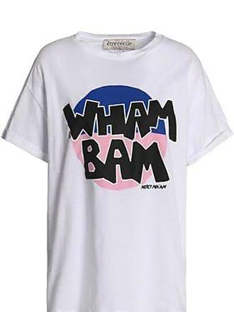 Être Cécile Woman Printed Cotton-jersey T-shirt Baby Pink Size XS être cécile