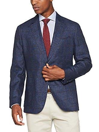 366ff0216d5f Hackett Hackett Linen Wool Wpane, Veste de Costume Homme, Multicolore  (5dcnavy Red