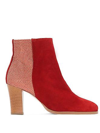La Redoute Collections Boots cuir bi-matière - La Redoute Collections -  Rouge f4e10f23cfda