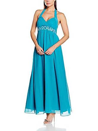 Abendkleid lang blau 48