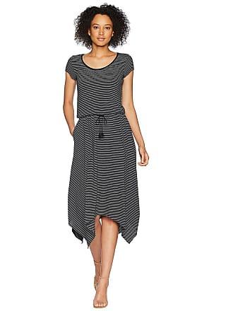 Ralph Lauren Jersey Handkerchief Dress (Polo Black/Soft White) Womens Dress