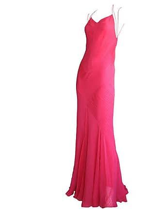 Ralph Lauren Stunning Vintage Ralph Lauren Purple Label Hot Pink Mermaid  Gown Sexy Back