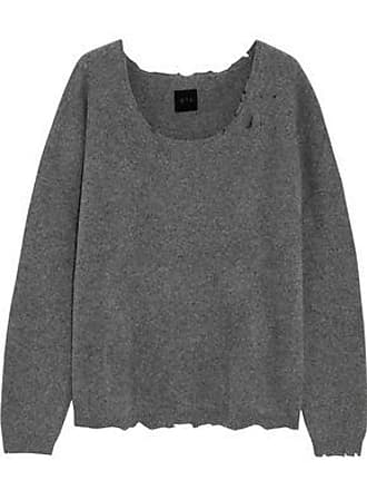 Rta Woman Charlotte Distressed Cashmere-blend Sweater Dark Gray Size L Rta