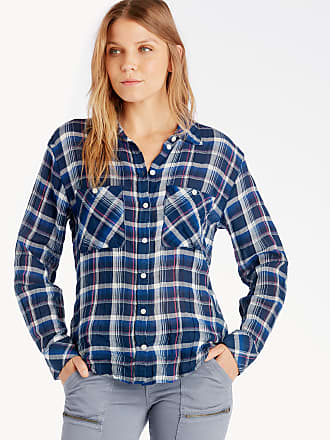 Womens Steady Boyfriend Shirt In Color: Window Pane Size XS From Sole Society Sanctuary