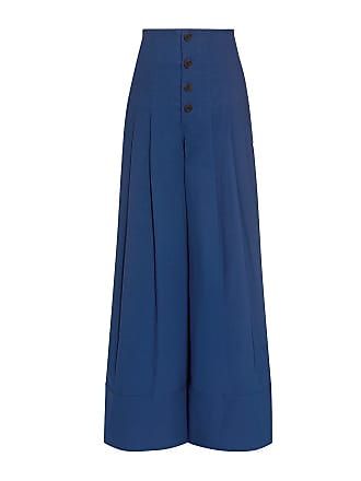 Bernadette High Rise Wide Leg Trousers - Womens - Blue Sea New York
