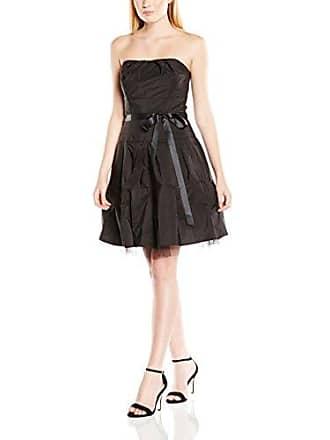 Swing damen schulterfreies kleid im vokuhila stil