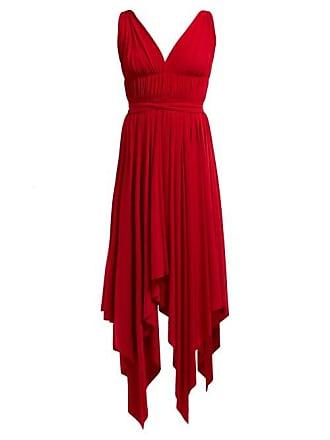 Norma Kamali Goddess Handkerchief Hem Dress - Womens - Red
