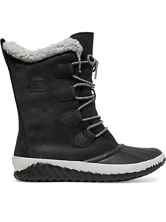 bcd73793786 Sorel Out n About Plus Leather And Suede Boots - Black